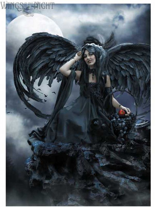 Cindy Grundsten Gothic Angel ADRIENNE Greeting Card